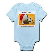 Stay-at-home dad: balls Infant Bodysuit