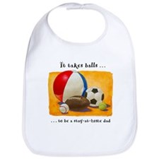 Stay-at-home dad: balls Bib