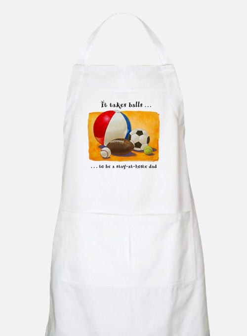 Stay-at-home dad: balls Apron