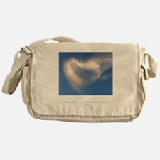 Buddha Heart Quote Messenger Bag