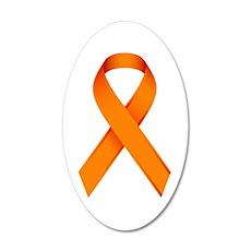 Orange Ribbon Wall Sticker