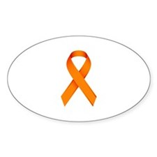 Orange Ribbon Decal