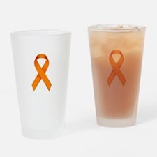 Orange Ribbon Drinking Glass