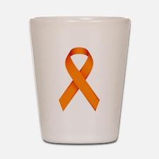Orange Ribbon Shot Glass