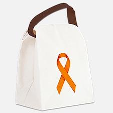 Orange Ribbon Canvas Lunch Bag