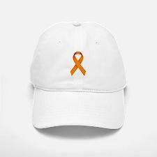 Orange Ribbon Baseball Baseball Cap