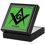 Acting Masonic Keepsake Box