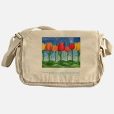 Grandest Visions Quote Messenger Bag