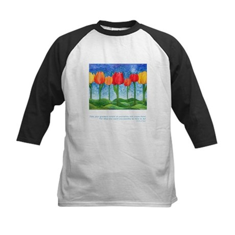 Grandest Visions Quote Kids Baseball Jersey