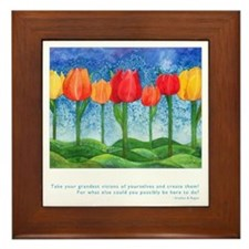 Grandest Visions Quote Framed Tile