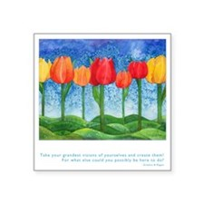 "Grandest Visions Quote Square Sticker 3"" x 3"""