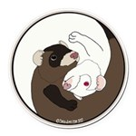 Yin-Yang Round Car Magnet