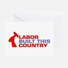 labor built union Greeting Cards (Pk of 10)