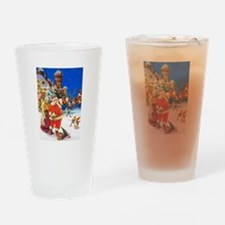 Santa & Mrs. Claus at the North Pol Drinking Glass