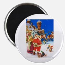 "Santa & Mrs. Claus at the N 2.25"" Magnet (10 pack)"