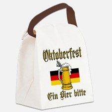 ein beer.png Canvas Lunch Bag