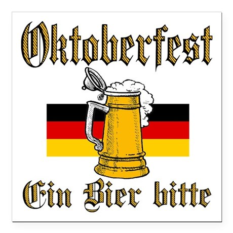 "ein beer.png Square Car Magnet 3"" x 3"""