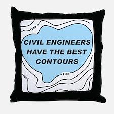 Civil Engineer Contours Throw Pillow