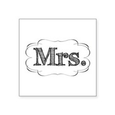 "mrs.png Square Sticker 3"" x 3"""