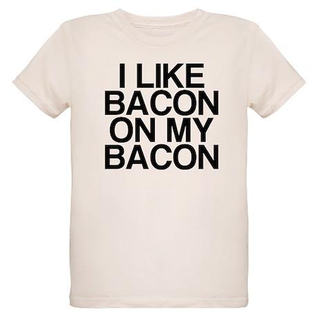 I Like Bacon on my Bacon Organic Kids T-Shirt