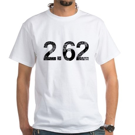 2.62, Marathon Parody, Aged White T-Shirt