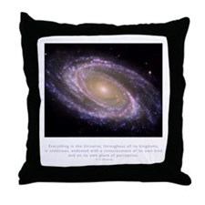 Everything is Conscious Quote Throw Pillow