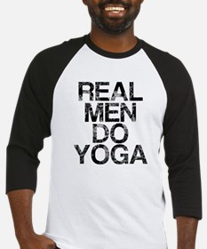 Real Men Do Yoga, Vintage, Baseball Jersey