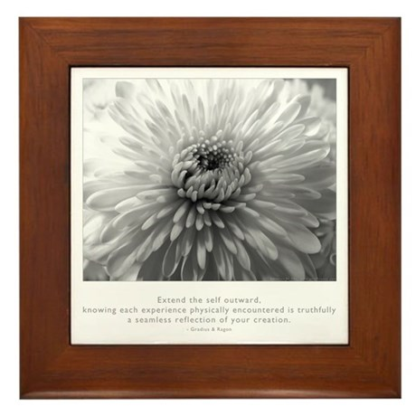 Reflection Creation Quote Framed Tile