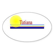 Tatiana Oval Decal