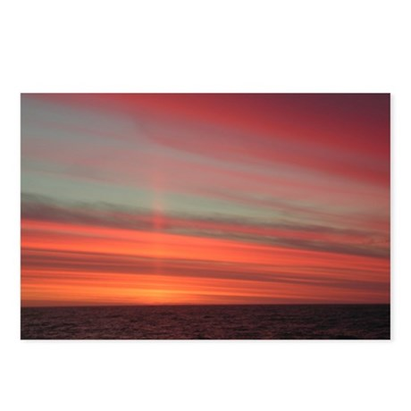 Antarctica Sunset 1 Postcards (Package of 8)