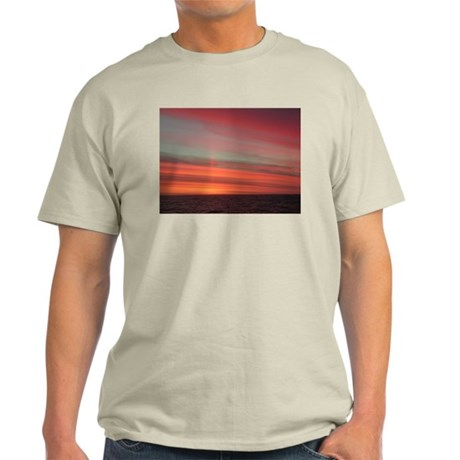 Antarctica Sunset 1 Ash Grey T-Shirt