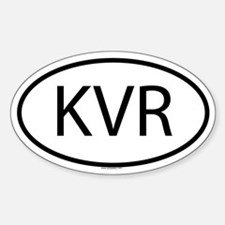 KVR Oval Decal