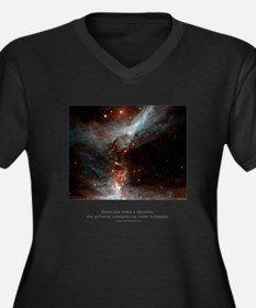 Universe Conspires Quote Women's Plus Size V-Neck