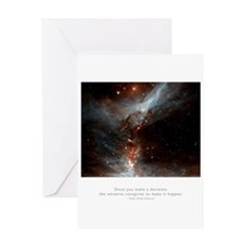 Universe Conspires Quote Greeting Card