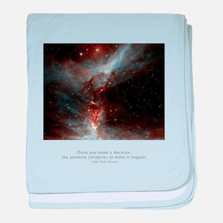 Universe Conspires Quote baby blanket