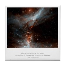 Universe Conspires Quote Tile Coaster