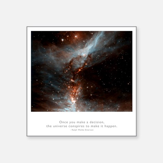 "Universe Conspires Quote Square Sticker 3"" x 3"""