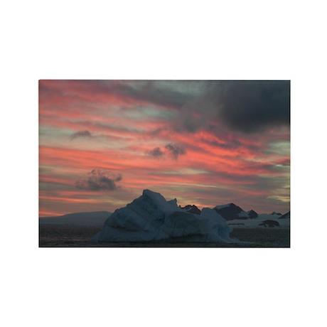 Antarctica Sunset 3 Rectangle Magnet (10 pack)