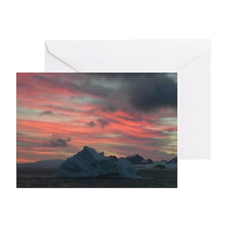 Antarctica Sunset 3 Greeting Cards (Pk of 10)