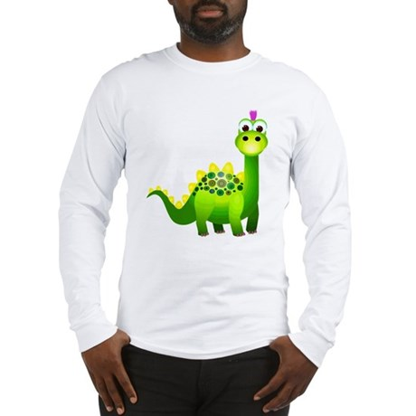 Green Punk Dinosaur Long Sleeve T-Shirt