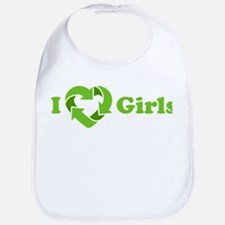 I love Girls - Recycle Heart Bib