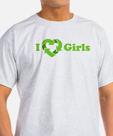 I love Girls - Recycle Heart T-Shirt