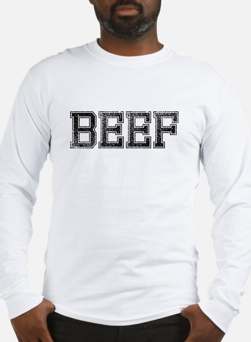 BEEF, Vintage Long Sleeve T-Shirt