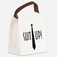 SuitUp_black.png Canvas Lunch Bag
