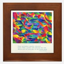 Color Power Quote Framed Tile
