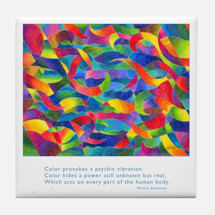 Color Power Quote Tile Coaster