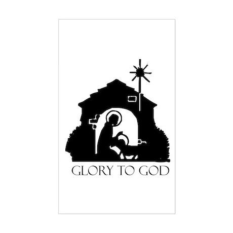 Nativity scene Rectangle Sticker