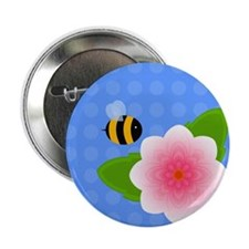 """Bumble Blossom 01 2.25"""" Button"""