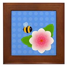 Bumble Blossom 01 Framed Tile