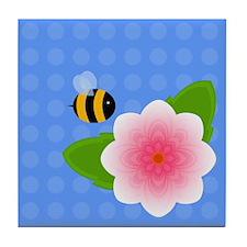 Bumble Blossom 01 Tile Coaster